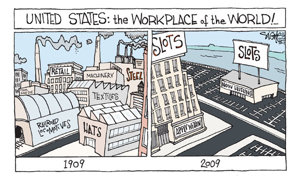 Signe Wilkinson  Signe Wilkinson's Editorial Cartoons 2009-04-24 business economy