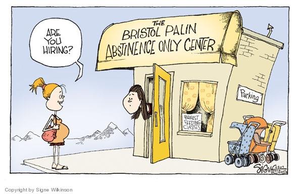 Signe Wilkinson  Signe Wilkinson's Editorial Cartoons 2009-05-08 Sarah Palin