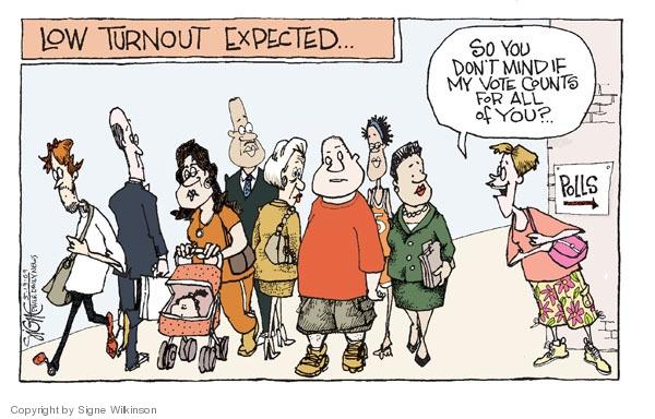 Signe Wilkinson  Signe Wilkinson's Editorial Cartoons 2009-05-19 voter turnout
