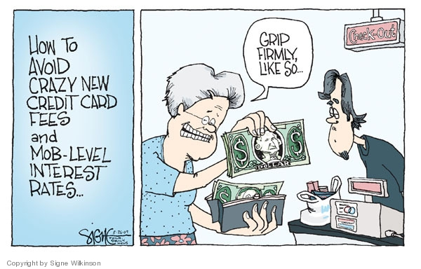 Signe Wilkinson  Signe Wilkinson's Editorial Cartoons 2009-05-26 interest rate