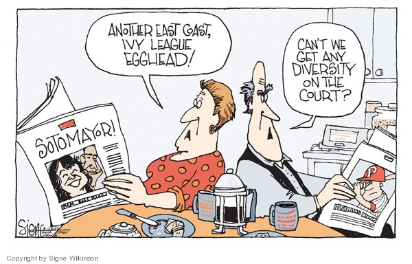 Signe Wilkinson  Signe Wilkinson's Editorial Cartoons 2009-05-28 political system