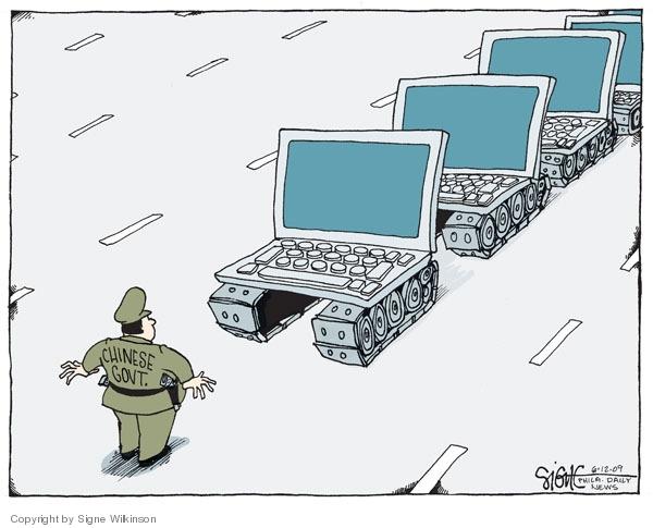 Signe Wilkinson  Signe Wilkinson's Editorial Cartoons 2009-06-11 censorship