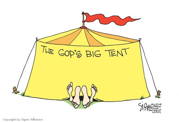 Signe Wilkinson  Signe Wilkinson's Editorial Cartoons 2009-06-25 GOP