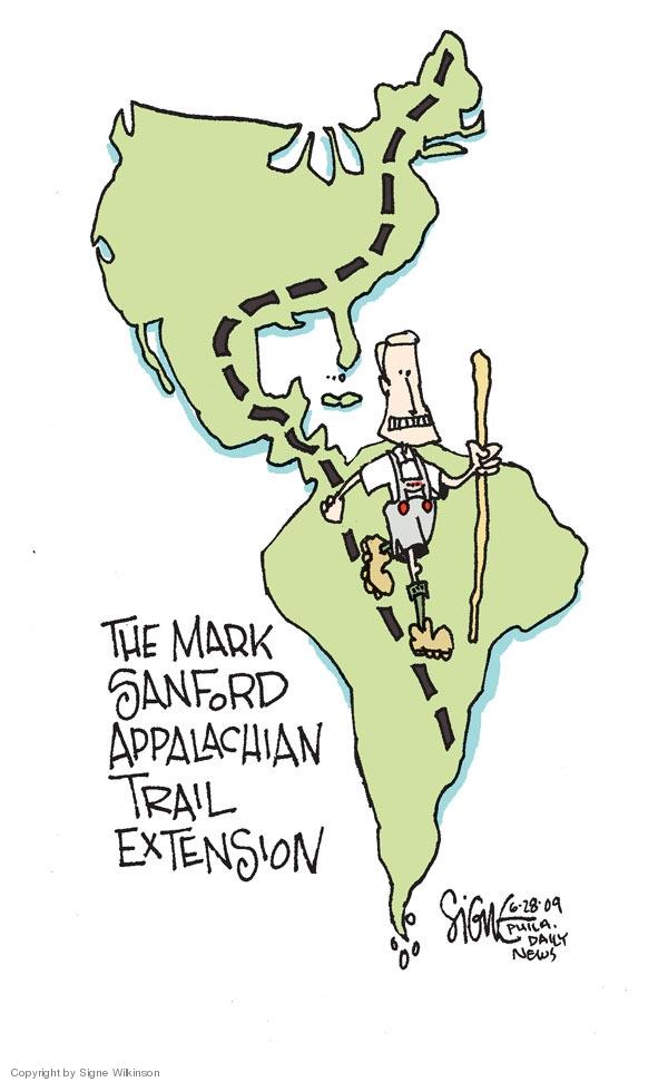 Cartoonist Signe Wilkinson  Signe Wilkinson's Editorial Cartoons 2009-06-28 south