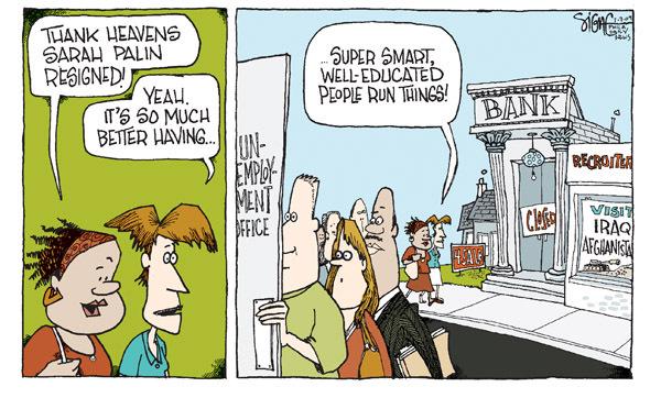 Signe Wilkinson  Signe Wilkinson's Editorial Cartoons 2009-07-07 Sarah Palin