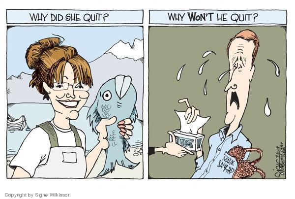 Signe Wilkinson  Signe Wilkinson's Editorial Cartoons 2009-07-10 Sarah Palin