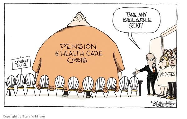 Signe Wilkinson  Signe Wilkinson's Editorial Cartoons 2009-07-13 employment benefits