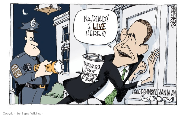 Signe Wilkinson  Signe Wilkinson's Editorial Cartoons 2009-07-23 1600 Pennsylvania Avenue