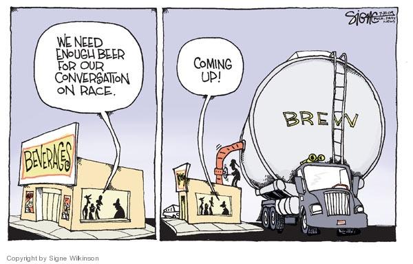 Signe Wilkinson  Signe Wilkinson's Editorial Cartoons 2009-07-31 racism