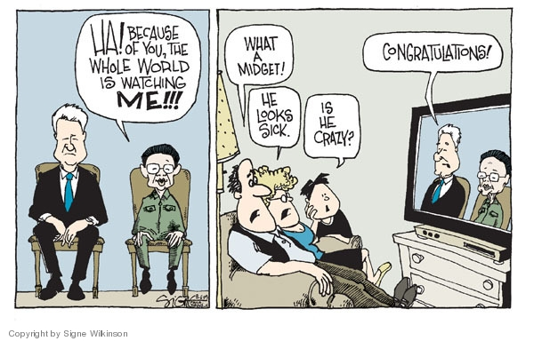 Signe Wilkinson  Signe Wilkinson's Editorial Cartoons 2009-08-06 political leader
