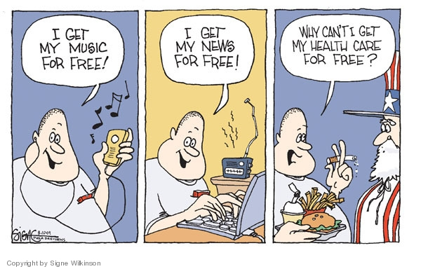 Cartoonist Signe Wilkinson  Signe Wilkinson's Editorial Cartoons 2009-08-10 reform
