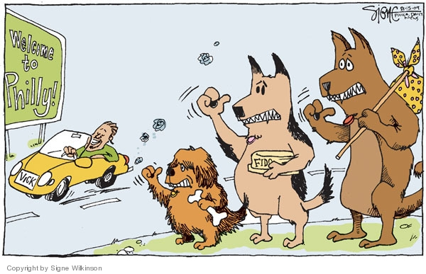 Cartoonist Signe Wilkinson  Signe Wilkinson's Editorial Cartoons 2009-08-15 NFL