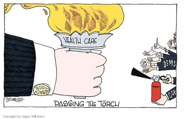 Signe Wilkinson  Signe Wilkinson's Editorial Cartoons 2009-08-31 democratic party