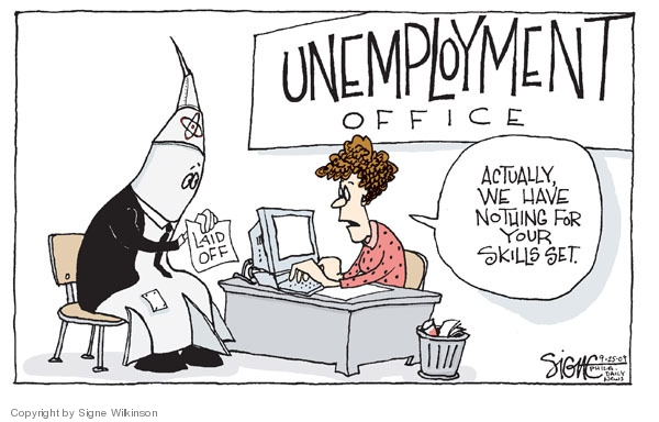 Signe Wilkinson  Signe Wilkinson's Editorial Cartoons 2009-09-25 unemployment