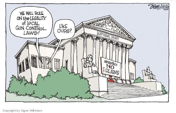 Cartoonist Signe Wilkinson  Signe Wilkinson's Editorial Cartoons 2009-10-02 legality