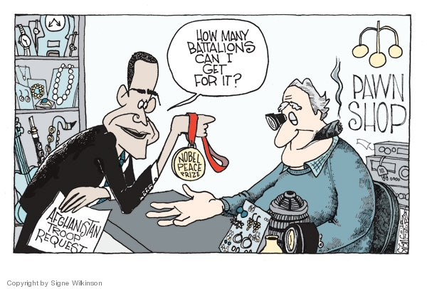 Cartoonist Signe Wilkinson  Signe Wilkinson's Editorial Cartoons 2009-10-13 strategy