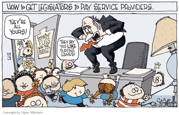 Cartoonist Signe Wilkinson  Signe Wilkinson's Editorial Cartoons 2009-10-08 day care