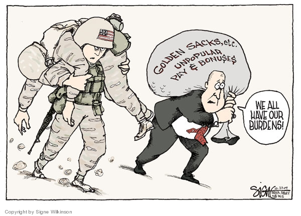 Signe Wilkinson  Signe Wilkinson's Editorial Cartoons 2009-10-23 executive compensation