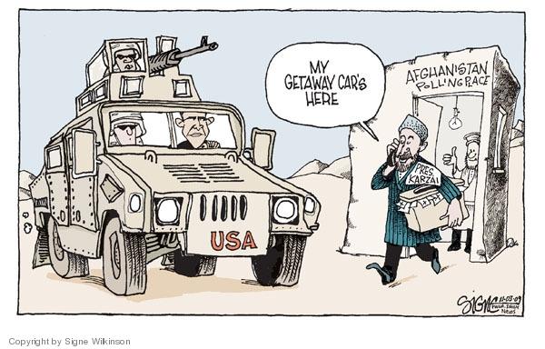 Cartoonist Signe Wilkinson  Signe Wilkinson's Editorial Cartoons 2009-11-03 election fraud