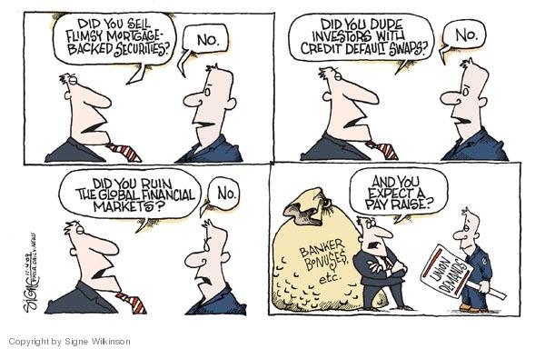 Signe Wilkinson  Signe Wilkinson's Editorial Cartoons 2009-11-04 economic