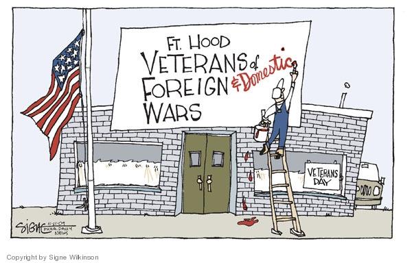 Signe Wilkinson  Signe Wilkinson's Editorial Cartoons 2009-11-11 Veterans Day