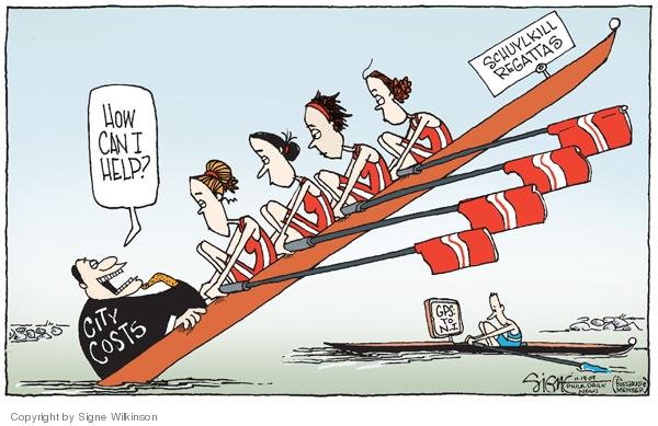 Cartoonist Signe Wilkinson  Signe Wilkinson's Editorial Cartoons 2009-11-19 cost