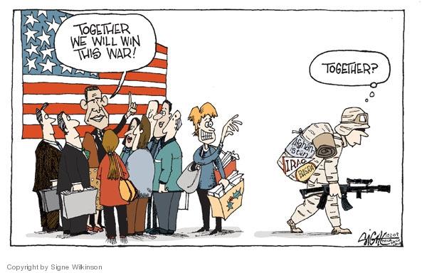 Cartoonist Signe Wilkinson  Signe Wilkinson's Editorial Cartoons 2009-12-01 Basra