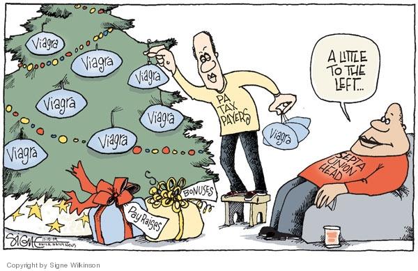 Signe Wilkinson  Signe Wilkinson's Editorial Cartoons 2009-11-10 pay raise