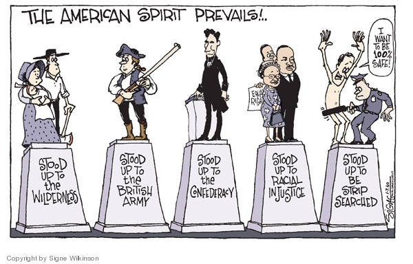 Cartoonist Signe Wilkinson  Signe Wilkinson's Editorial Cartoons 2010-01-07 airport security