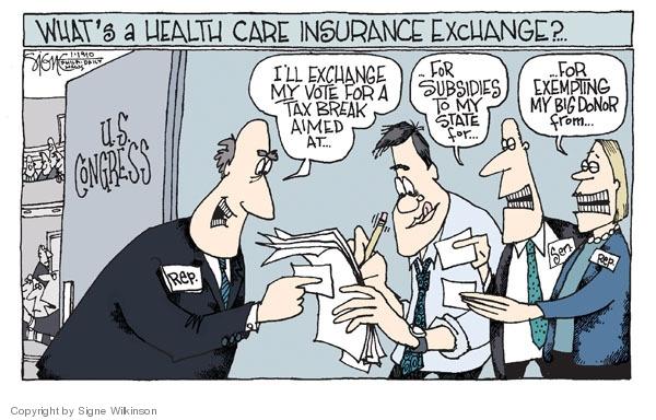 Cartoonist Signe Wilkinson  Signe Wilkinson's Editorial Cartoons 2010-01-19 congress health care