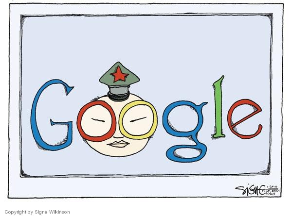 Cartoonist Signe Wilkinson  Signe Wilkinson's Editorial Cartoons 2010-01-20 cyber