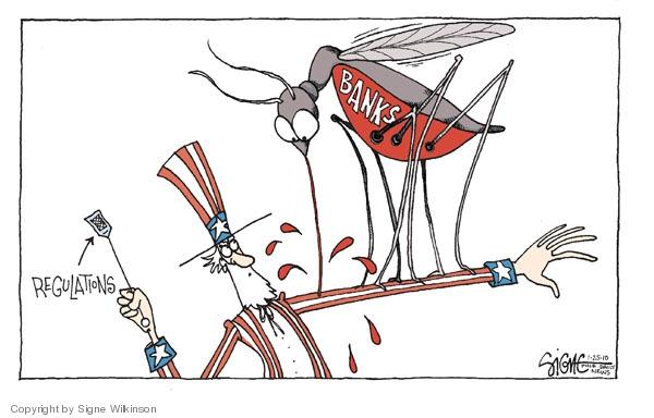 Cartoonist Signe Wilkinson  Signe Wilkinson's Editorial Cartoons 2010-01-25 oversight