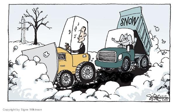 Signe Wilkinson  Signe Wilkinson's Editorial Cartoons 2010-02-12 truck