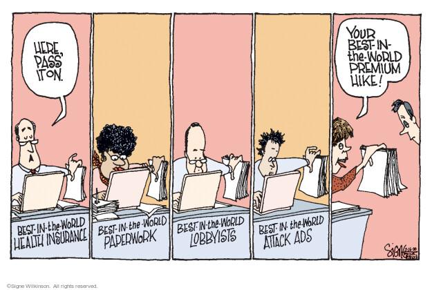 Cartoonist Signe Wilkinson  Signe Wilkinson's Editorial Cartoons 2010-03-16 medicine