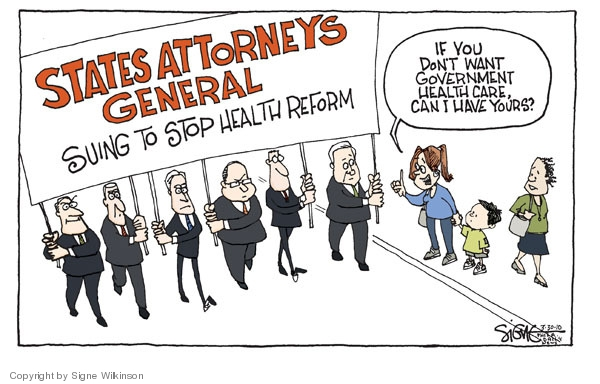 Cartoonist Signe Wilkinson  Signe Wilkinson's Editorial Cartoons 2010-03-30 health care reform