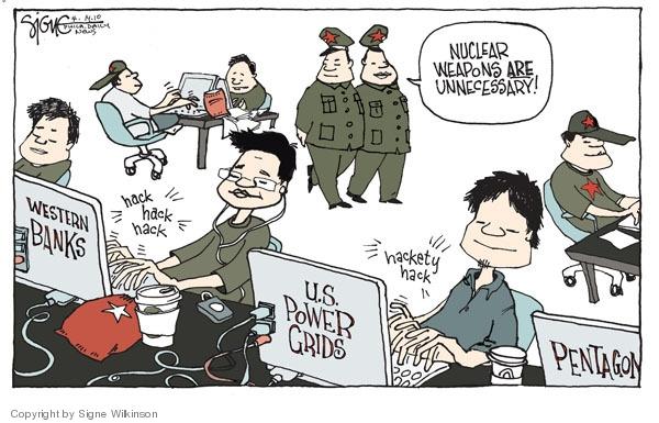 Cartoonist Signe Wilkinson  Signe Wilkinson's Editorial Cartoons 2010-04-14 nuclear