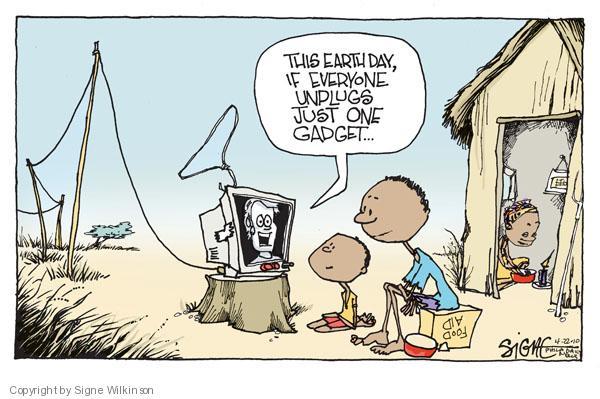 Signe Wilkinson  Signe Wilkinson's Editorial Cartoons 2010-04-22 earth day