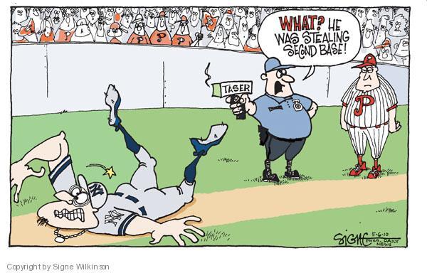 Signe Wilkinson  Signe Wilkinson's Editorial Cartoons 2010-05-06 baseball