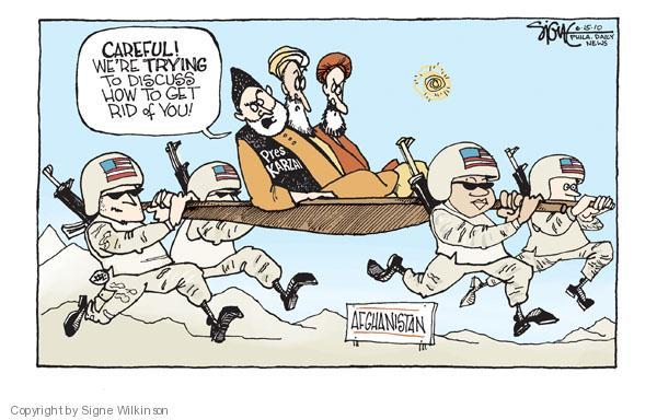 Cartoonist Signe Wilkinson  Signe Wilkinson's Editorial Cartoons 2010-06-15 careful