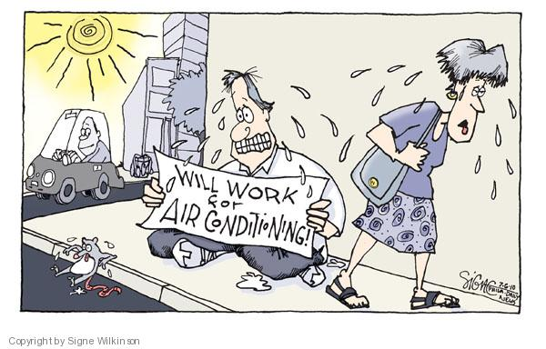 Cartoonist Signe Wilkinson  Signe Wilkinson's Editorial Cartoons 2010-07-06 temperature