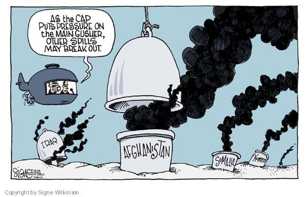 Cartoonist Signe Wilkinson  Signe Wilkinson's Editorial Cartoons 2010-07-15 Iraq oil