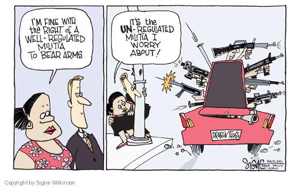 Cartoonist Signe Wilkinson  Signe Wilkinson's Editorial Cartoons 2010-07-21 civil liberty
