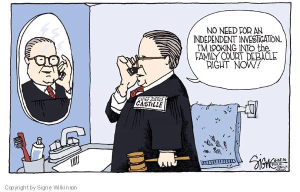 Cartoonist Signe Wilkinson  Signe Wilkinson's Editorial Cartoons 2010-06-25 Chief Justice