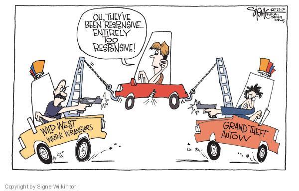 Signe Wilkinson  Signe Wilkinson's Editorial Cartoons 2010-07-22 truck