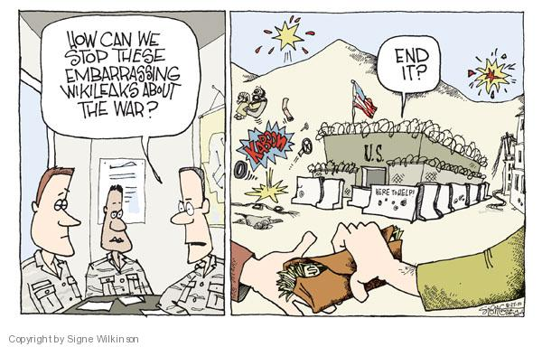 Cartoonist Signe Wilkinson  Signe Wilkinson's Editorial Cartoons 2010-08-25 strategy