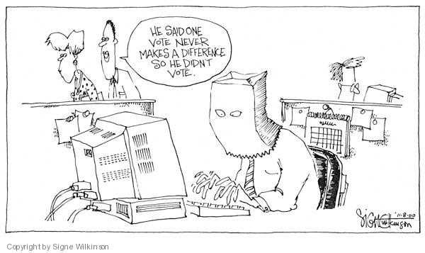 Signe Wilkinson  Signe Wilkinson's Editorial Cartoons 2007-01-01 face