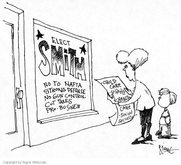 Cartoonist Signe Wilkinson  Signe Wilkinson's Editorial Cartoons 2007-01-01 care