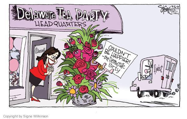 Signe Wilkinson  Signe Wilkinson's Editorial Cartoons 2010-09-16 flower bouquet