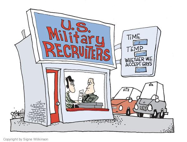 Cartoonist Signe Wilkinson  Signe Wilkinson's Editorial Cartoons 2010-10-22 recruitment