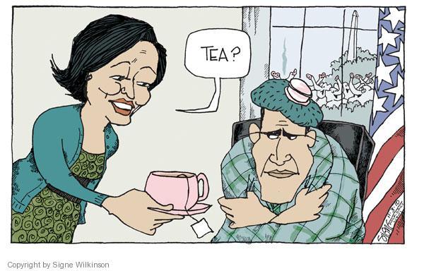 Cartoonist Signe Wilkinson  Signe Wilkinson's Editorial Cartoons 2010-11-04 first lady